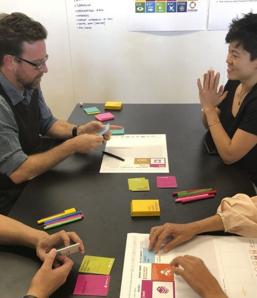 ThinkPlace staff play card game Cards Against Neutrality